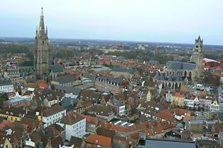ベルギーの町並み
